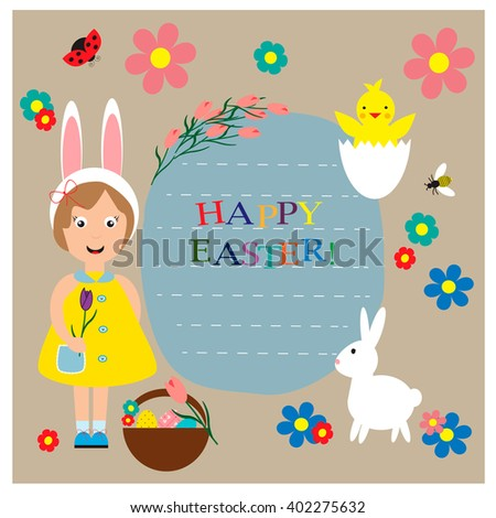 Greeting card for Easter day.