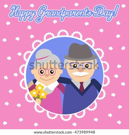 Greeting card grandparents day senior people stock vector 473989948 greeting card for grandparents day senior people illustration m4hsunfo
