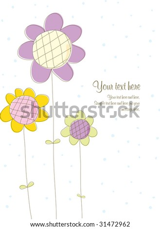 Greeting Card front - stock vector