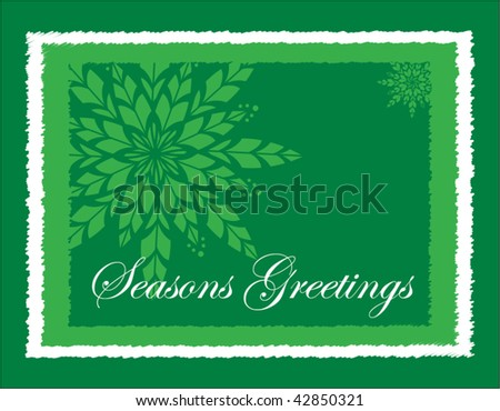 Greeting card in green - stock vector
