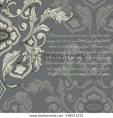 Greeting card in vintage style. Vector illustration - stock vector