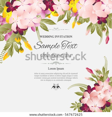 Greeting card invitation wedding card abstract stock vector greeting card invitation or wedding card with abstract floral backgroundvector illustration stopboris Images
