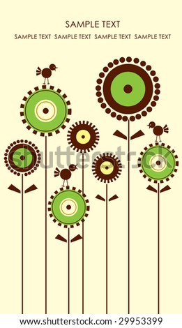 Greeting card. Look  through my portfolio to find more images of the same series - stock vector