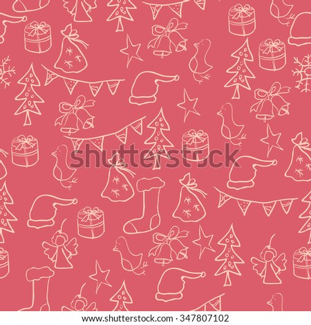 Greeting Card Merry Christmas and Happy New Year for your celebration - stock vector