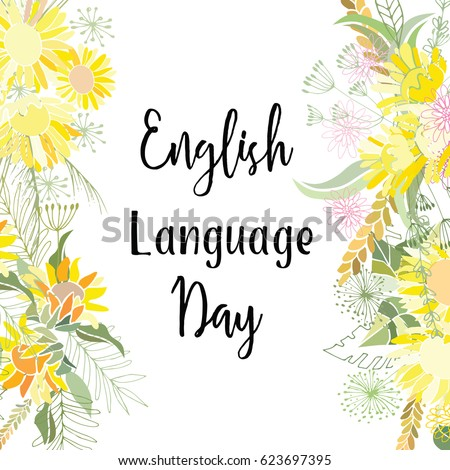 Greeting card english language day abstract stock vector hd royalty greeting card of the english language day abstract background m4hsunfo