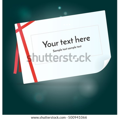 Greeting card on dark background. Vector illustration