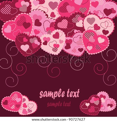 greeting card on Valentine's Day - stock vector