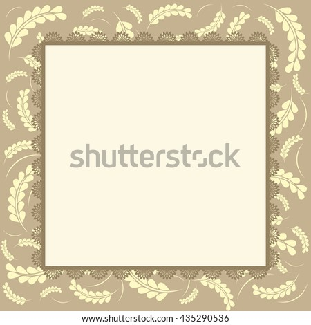 greeting card,romantic label with flower. Vector image