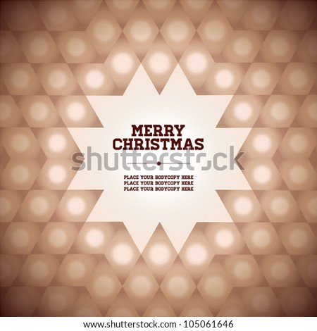 greeting card / snow flake / template / design - stock vector