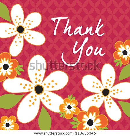 Greeting Card template in vintage red and white. Great for Thanksgiving and Thank You cards. See my folio for other colors and for JPEG versions. - stock vector