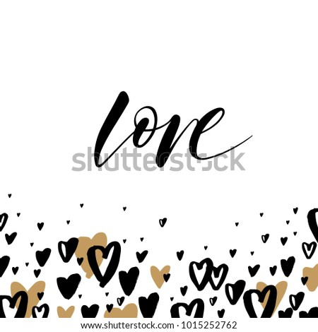 Greeting card template word love valentines stock vector 1015252762 greeting card template with the word love valentines day greeting card in modern style m4hsunfo
