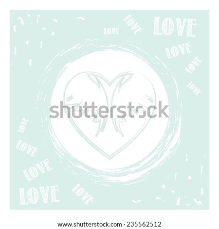 Greeting card Valentin`s Day. Love card. Wedding card. Vector illustration. - stock vector