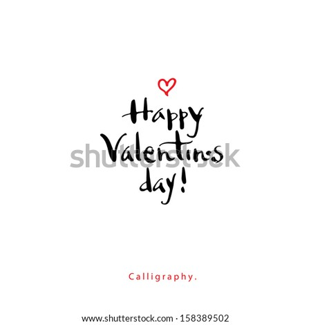 Greeting Card. Valentins day - stock vector