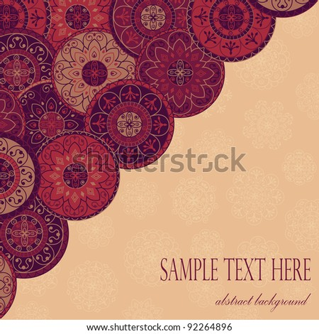 greeting card with abstract background - stock vector