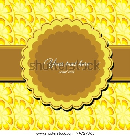 Greeting card with bow and lemon. Vector Illustration. - stock vector
