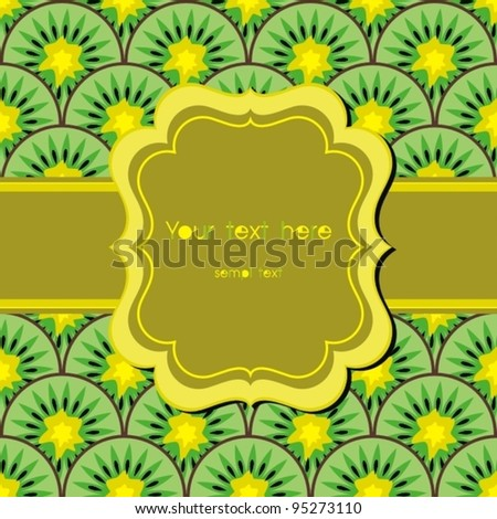 Greeting card with bow. Vector Illustration. - stock vector