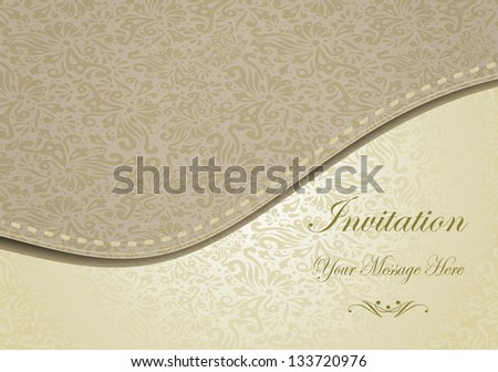 Greeting Card with Flowers in a baroque style . eps10 - stock vector