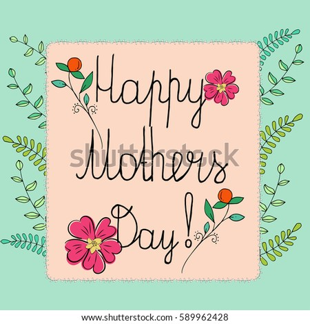 Greeting card mothers day floral background stock vector 589962428 greeting card with mothers day floral background with label greetings on mothers day m4hsunfo