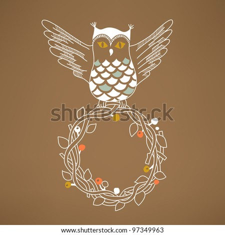 Greeting card with owl