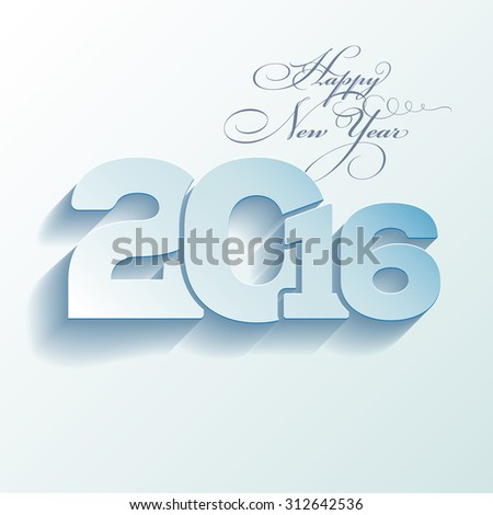 Greeting card with place for text - Happy New Year 2016 - vector illustration