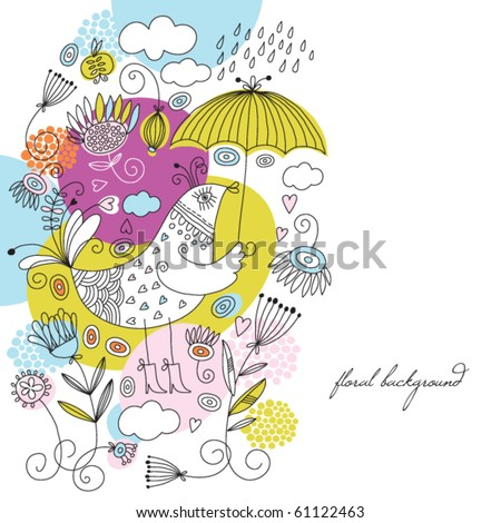 greeting card with place for your text - stock vector