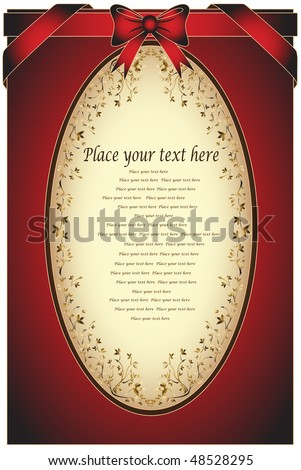 Greeting card with ribbons for invitation or congratulation. Please see more similar images in my gallery, thanks. - stock vector
