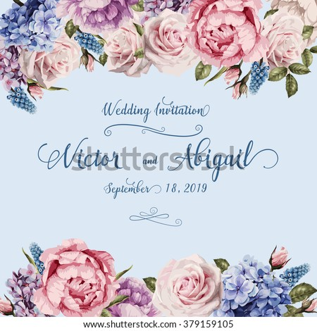 Greeting card roses watercolor can be stock vector hd royalty free greeting card with roses watercolor can be used as invitation card for wedding stopboris Images