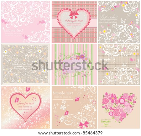 Greeting cards - stock vector