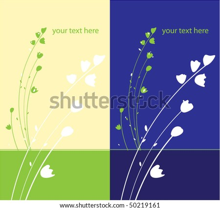 Greeting cards with may-lily - stock vector