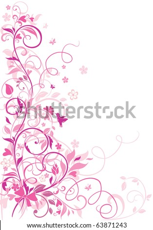 Greeting floral border - stock vector