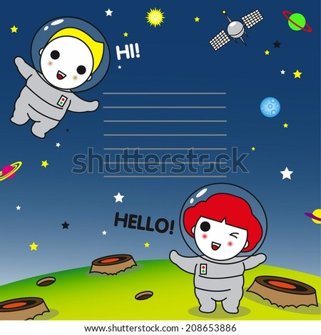 Greeting from Outer Space Note Pad illustration