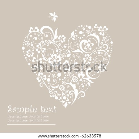 Greeting heart shape - stock vector
