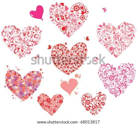 Greeting hearts - stock vector