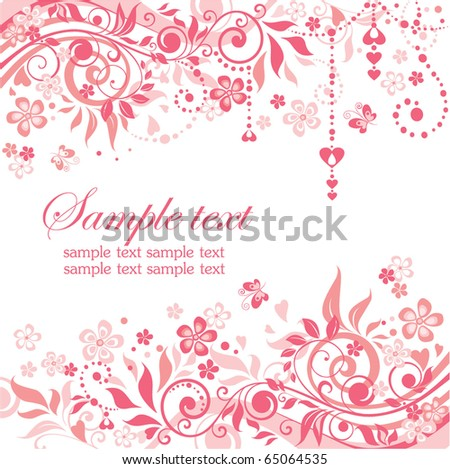 Greeting pink banner - stock vector