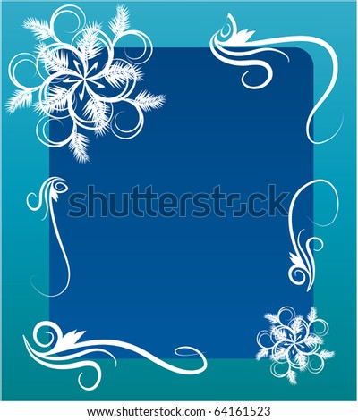 greeting template design for new year - stock vector