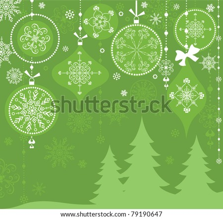 Greeting xmas card - stock vector