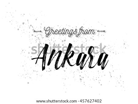 Greetings ankara turkey greeting card typography stock vector greetings from ankara turkey greeting card with typography lettering design hand drawn m4hsunfo