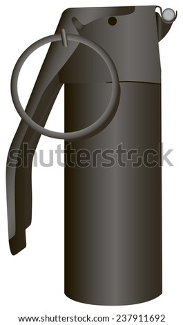 Grenade cylindrical shape to attack the enemy's manpower. Vector illustration. - stock vector