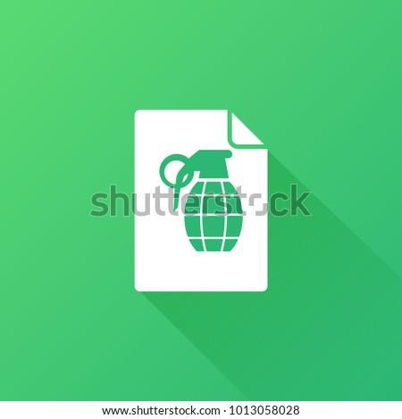 grenade icon arm sign stock vector 1013058028 shutterstock