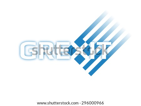 Grexit symbol with greek flag and white background - stock vector