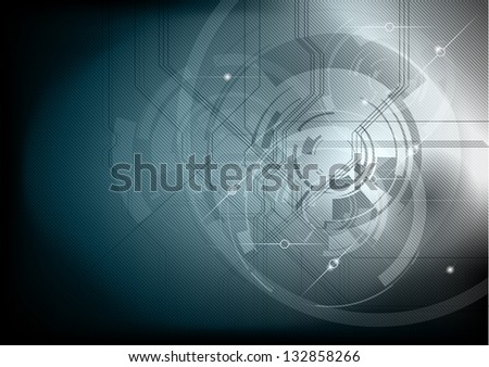 grey abstract tech background - stock vector