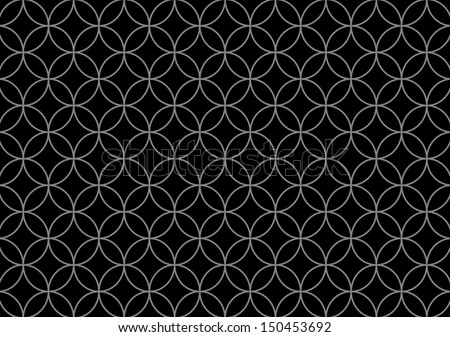 Grey and Black Seamless Circle Pattern. Vector - stock vector