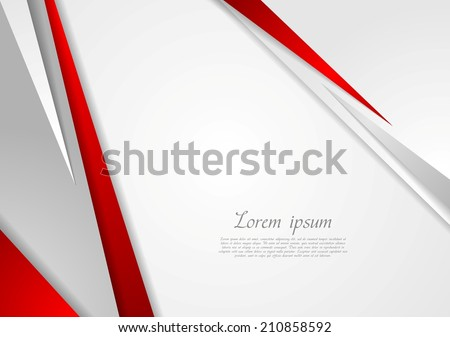 Grey and red corporate technology design. Vector background - stock vector