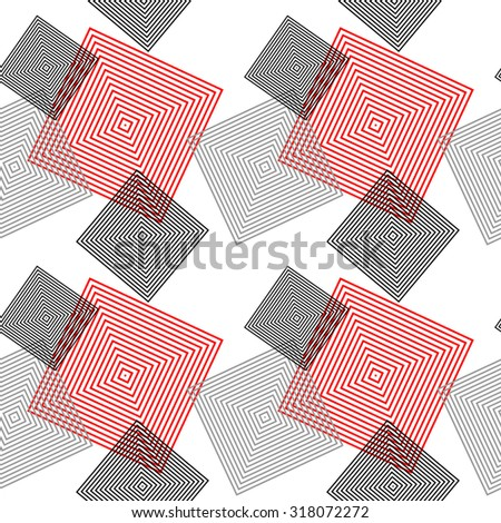 Grey and red diagonal squared pattern. Grey wrapping. Backgrounds & textures shop. - stock vector