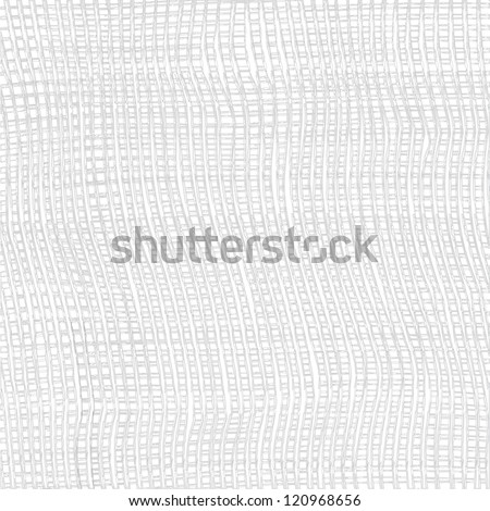 Grey and white grunge striped cloth weave texture - stock vector
