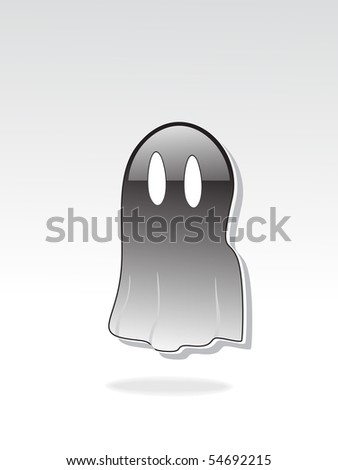 grey background with isolated witch, vector wallpaper - stock vector