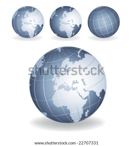 Grey blue globes vector