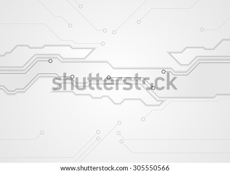 Grey corporate engineering drawing design. Vector tech background