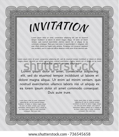 Grey formal invitation vector illustration easy stock vector grey formal invitation vector illustration easy to print money pattern design stopboris Gallery