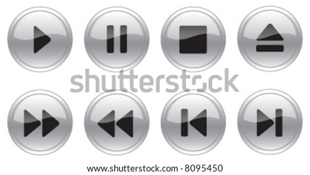 Grey Glass Switch Control Buttons